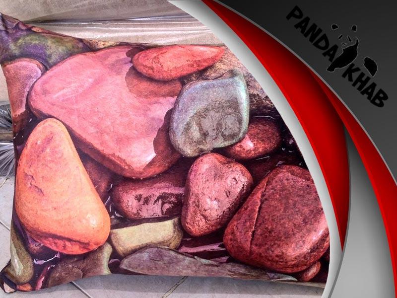 روبالشی طرح سنگی سه بعدی