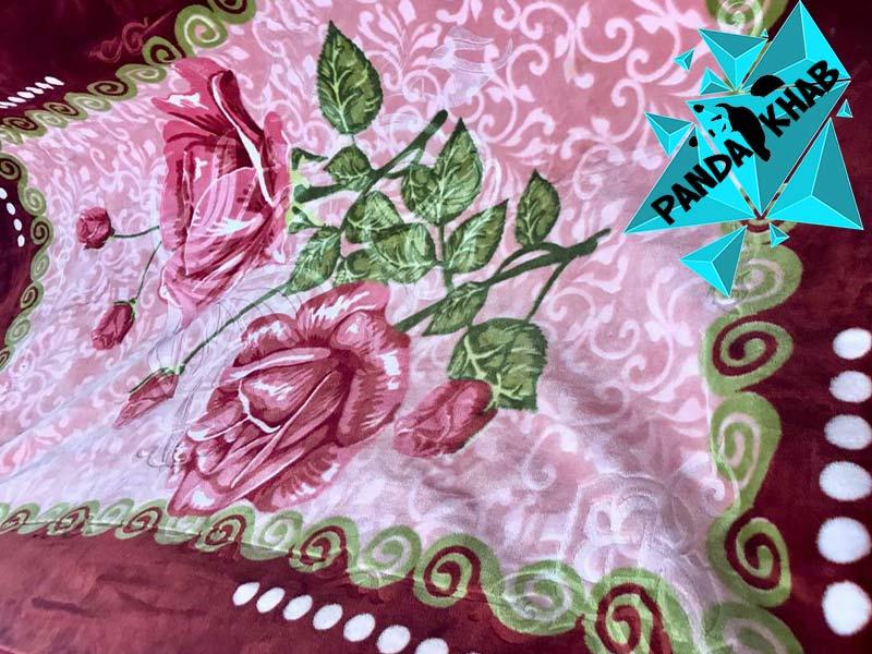پتوی دونفره گل برجسته اطلس