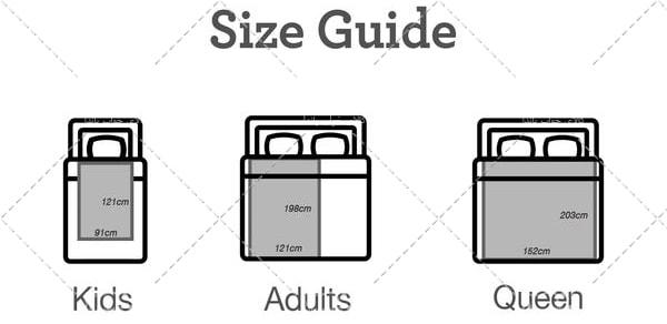 وزن و سایز پتو یک نفره