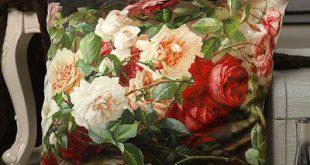 تولیدی روبالشی مخمل گلدار